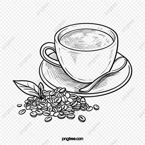 This section introduces (22919) illustration(s) of coffee. Black And White Line Drawing Coffee Illustration Elements, Hand Painted, Black And White, Coffee ...