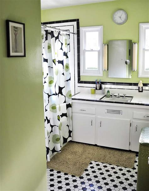 black and white bathroom tile designs black and white bathroom with accent color search