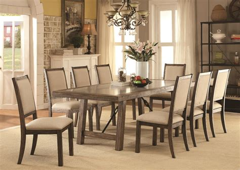 dining room contemporary rustic oak 9p dining wooden top dining table chairs ebay