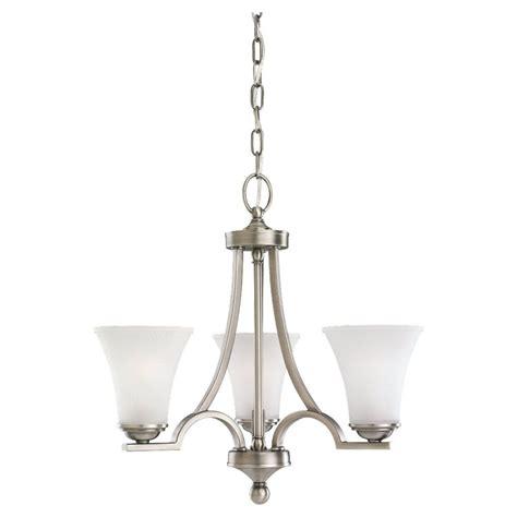 antique nickel chandelier sea gull lighting 3 light antique brushed nickel