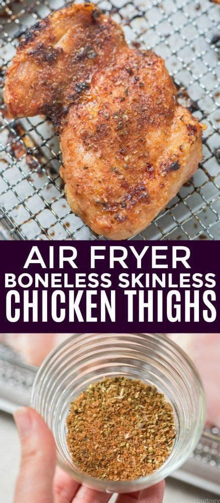 chicken fryer air thighs boneless skinless recipes healthy