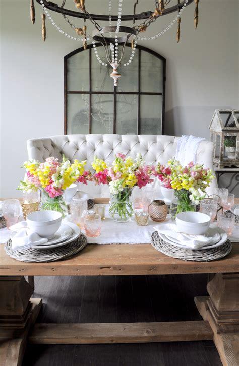 A Spring Tablescape  Decor Gold Designs