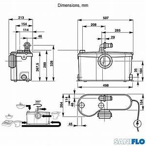 Saniflo Sanibest Pro Heavy Grinder  Wc   3 Outlets   1053