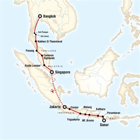 map   route  bangkok  bali   shoestring
