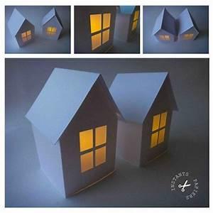 Origami Maison En Papier : photophore maison en papier instants papiers house ~ Zukunftsfamilie.com Idées de Décoration