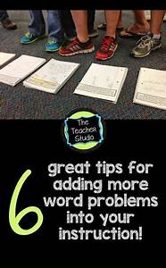 SIX Ways to Incorporate More Word Problems into Your Day ...