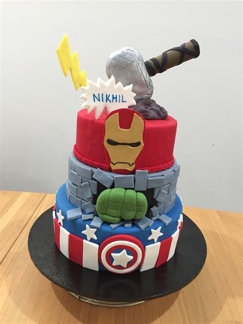 My life is so much easier when it is time to bake. Avengers theme cake | Themed cakes, Cake, Birthday cake
