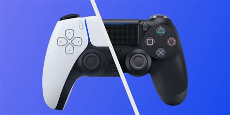 image shows ps dualsense controller compared  ps dualshock