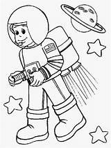 Astronaut Coloring Space Colouring Kid Rocket Printable Helpers Preschool Astronout Booster Suit Wearing Cartoon Drawing Simple Template Getdrawings Netart Sheets sketch template