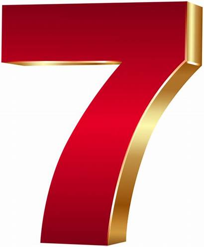 Number Seven Clip Numbers Clipart Transparent Gifette