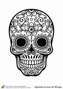 Tete De Mort Mexicaine Dessin : coloriage tete de mort my blog ~ Melissatoandfro.com Idées de Décoration