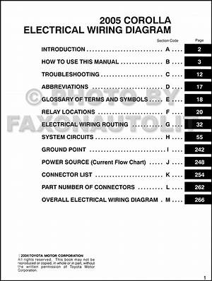 Toyota Corolla 2005 Wiring Diagram 41797 Desamis It