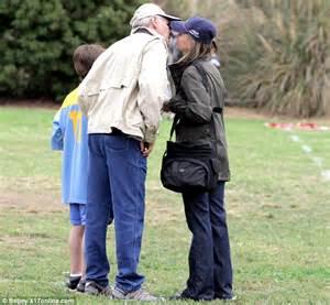 Calista Flockhart and Harrison Ford enjoy a rare PDA as ...