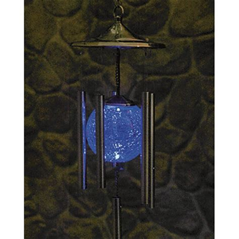 solar powered lighted wind chimes 214697 decorative