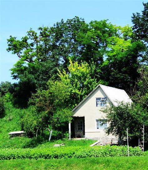 Weißes Haus Im Wald  Baum, Haus, Wald, Fotografie Von