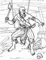 Pirate Coloring Pirates Pirat Pirata Colorare Colorear Piratas Coloriage Malvorlagen Ax Colorkid Hache Avec Une Axt Einer Hacha Machado Um sketch template