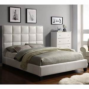 oxford creek harper panel upholstered queen bed in white With bed back cushion design