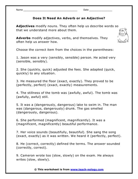 finding adjectives worksheet high school homeshealth info