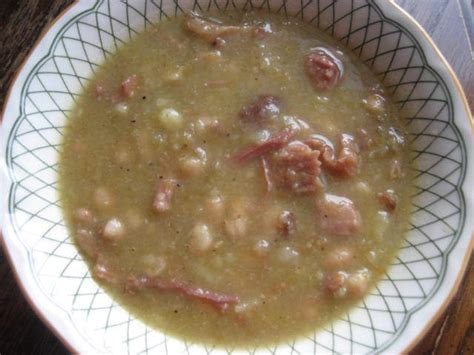 Navy Bean Soup with Ham Bone