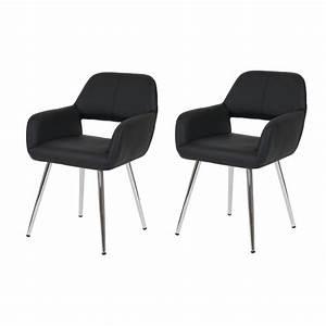 lot de 2 chaises de salle a manger fauteuil retro With salle À manger contemporaineavec fauteuil de salle À manger en cuir