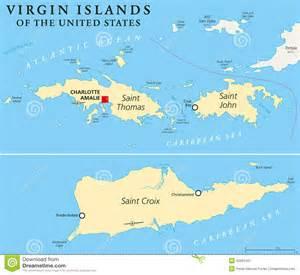 United States Virgin Islands Political Map. A group of islands in the ... U.S. Virgin Islands