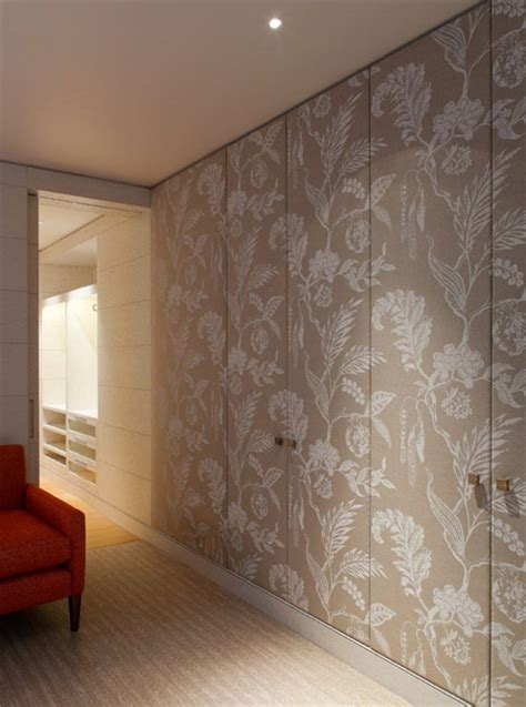 Wallpaper For Cupboard Doors by Wallpaper Closet Doors Gallery