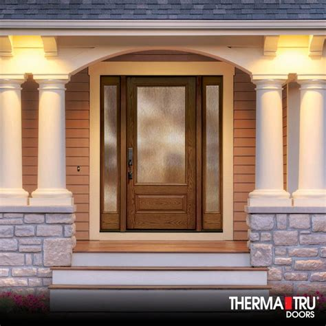 therma tru doors therma tru classic craft oak collection fiberglass door