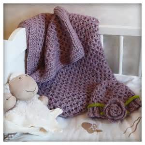 Free Pattern Baby Blanket and Hat