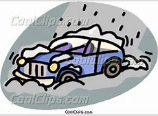 car stuck in a snow storm Vector Clip art