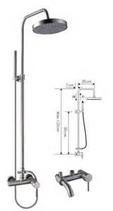 Bathtub Faucet Height Standard by Rain Shower Mixer Set Brushed Nickel Bathroom Shower