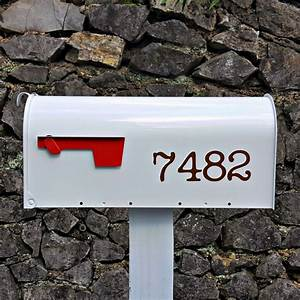 traditional style mailbox numbers With mailbox letters numbers