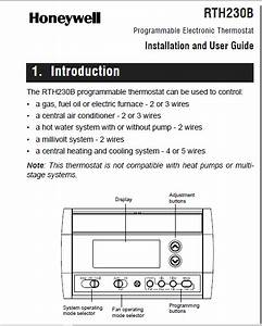 Honeywell Rth230b Programmable Electronic Thermostat