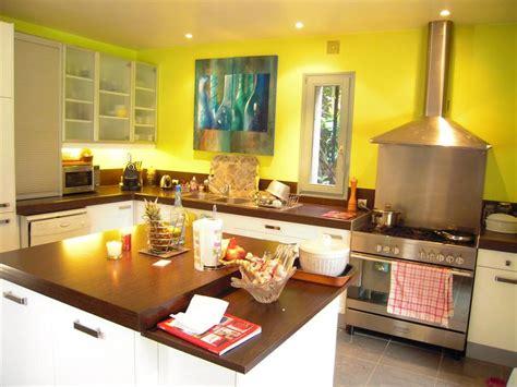 peinture cuisine jaune déco cuisine jaune