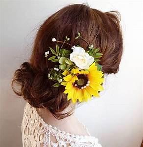 Sunflower Hair Clip Sunflower Hair Comb Yellow Flower