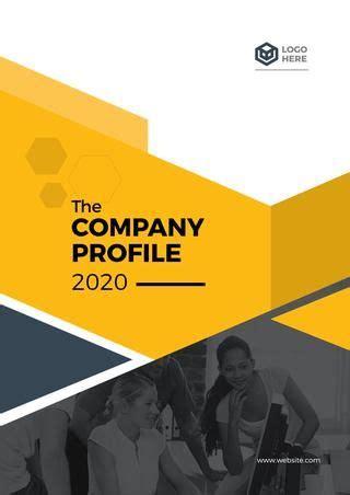 cover  company profile templete company profile