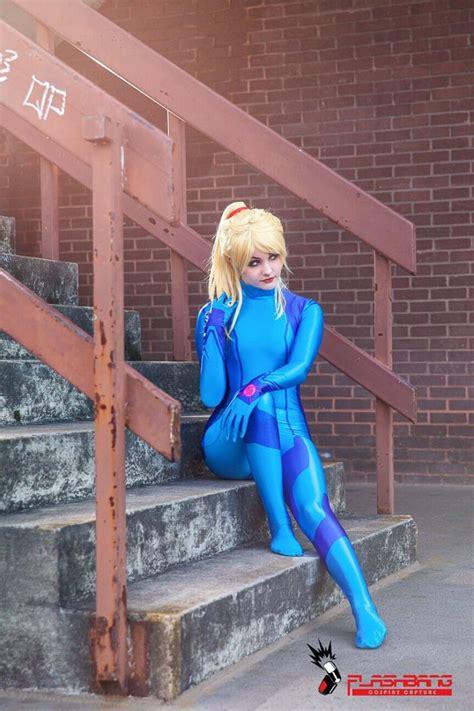 Metroid Samus Aran Zero Suit Cosplay Costume