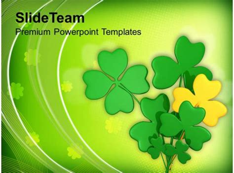 st patricks day clover lucky symbol irish powerpoint