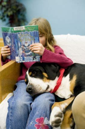 reading  therapy dogs improves literacy attitudes
