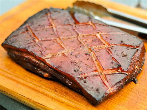 pork belly smoked recipes recipe char siu sauce grilled marinated grill maple bourbon smoker meat juicy memorial marinade loin fat