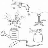 Sprinkler Drawing Water Watering Equipment Vector Clip Illustrations Simili sketch template