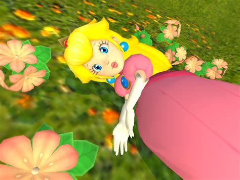 Peach And Daisy Swimming