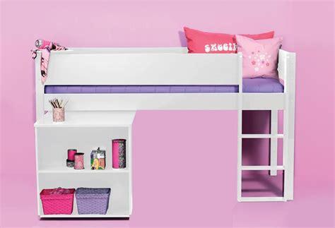 lit en hauteur avec bureau lit mi hauteur milan avec bureau blanc acheter en