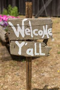 Rustic, Wood, Welcome, Sign