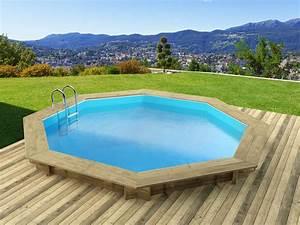 Eclairage Piscine Bois : piscine bois verona x m 68437 ~ Edinachiropracticcenter.com Idées de Décoration