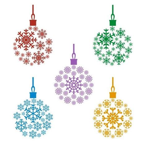Svg, dxf, png and eps. Snowflake Ornament Bulb Cuttable Design PNG DXF SVG & eps ...