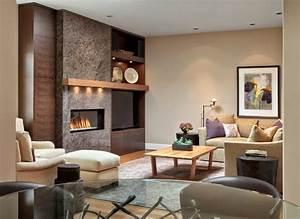 Lindas salas con chimenea colores en casa for Chimeneas para sala