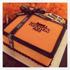 Hermes Box Cake  Nice And Good!  Pinterest Cakes