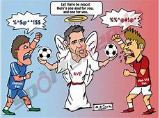 Comic Robin van Persie the peacemaker during Manchester