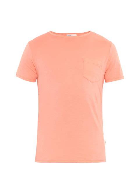 Onia Joey Pocket T-Shirt in Peach (Orange) for Men - Lyst