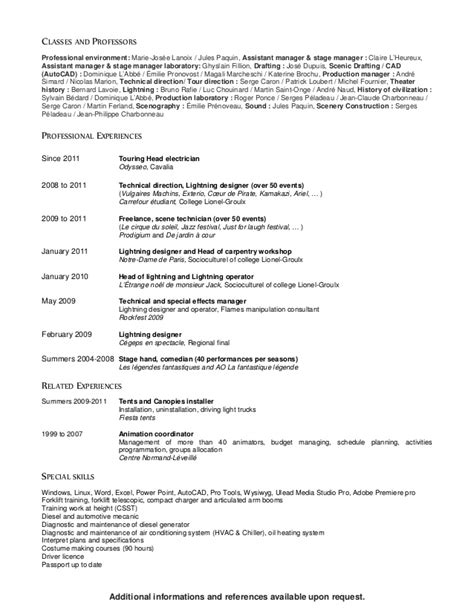 Curriculum Vitae Available Upon Request by Cv K 233 Ven Ouellet English